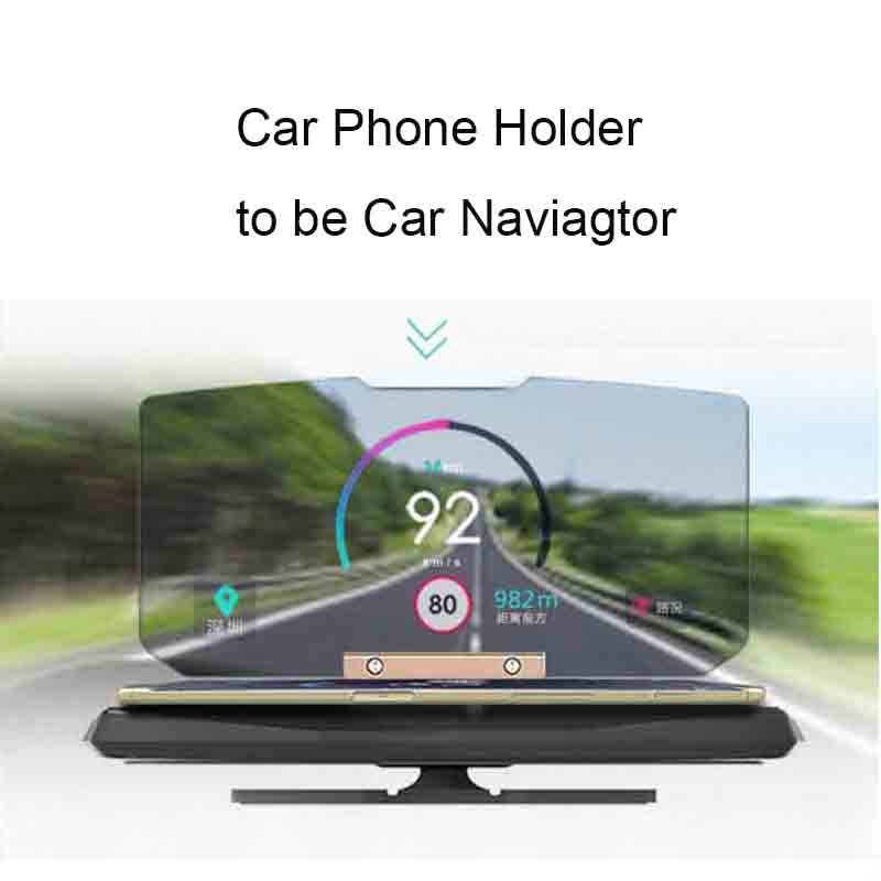 Car Phone Holder Vehicle-Mounted Mobile GPS Navigator Head-up Projector Function Stents With App to Download For Iphone 6s Plus(China (Mainland))