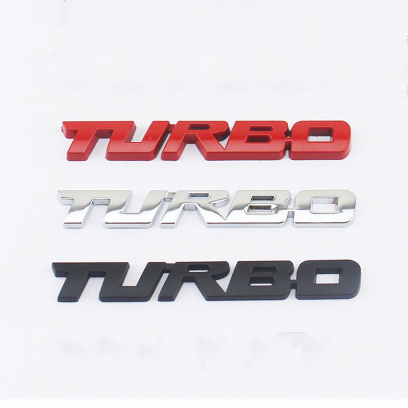3D Metal TURBO Emblem Car Styling Sticker Body Rear Tailgate Badge For Ford Focus 2 3 ST RS Fiesta Mondeo Tuga Ecosport Fusion(China (Mainland))