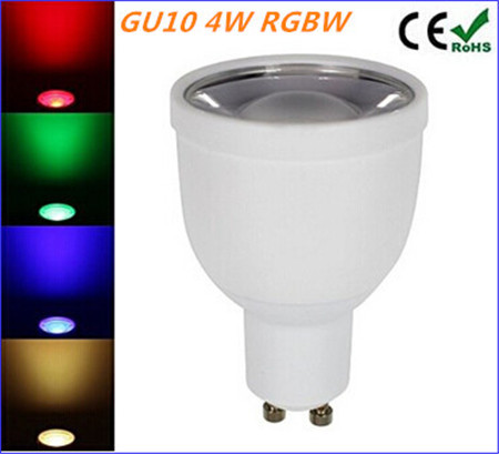 Dimmable GU10 4W RGBW/RGBWW LED Bulb AC85-265V Color Changing Led Spotlight Bulb LED Decorative Lamp free shipping(China (Mainland))