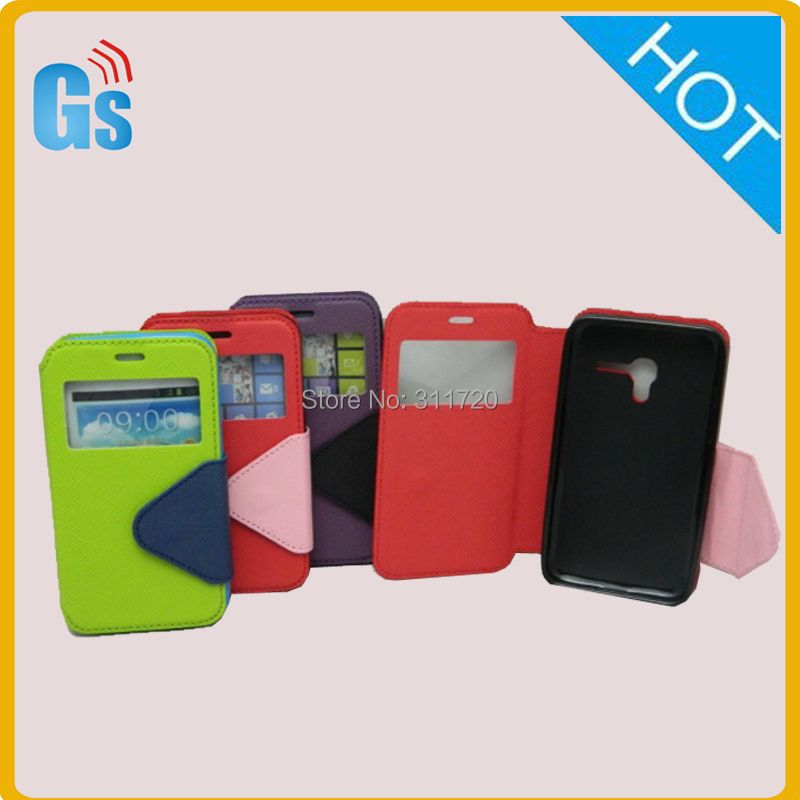 Alibaba Website New Product leather case with window Flip Cover For Alcatel One Touch Pop D3 ot 4037A(China (Mainland))