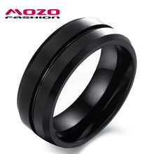 Wholesale New Europe and America Fashion men jewelry Black Pure Tungsten steel  Rings Classic Personality ring for men WJ227(China (Mainland))