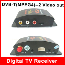 Car DVB-T MPEG4 Mobile Digital TV Tuner Receiver One Seg Compatible with DVB-T(SD)MPEG2  AVC/H.264 2 Video Out(China (Mainland))