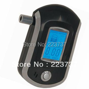 Free Shipping Portable Professional Police Digital Breath Alcohol Tester,Breathalyzer Analyzer, LCD Display