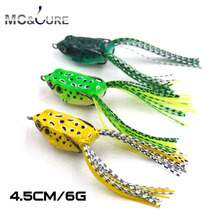 Buy MC&LURE 1PCS Ray Frog Lure 4.5cm 6g Soft bait Fishing Lure Simulation frog bait Topwater floating Artificial double Hook for $2.83 in AliExpress store
