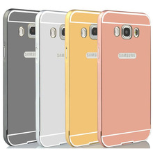 Buy Luxury Metal Aluminum Frame Acrylic Mirror Back Cover Case Samsung Galaxy J5 J7 2016 J510 J710 Phone Bags for $2.56 in AliExpress store
