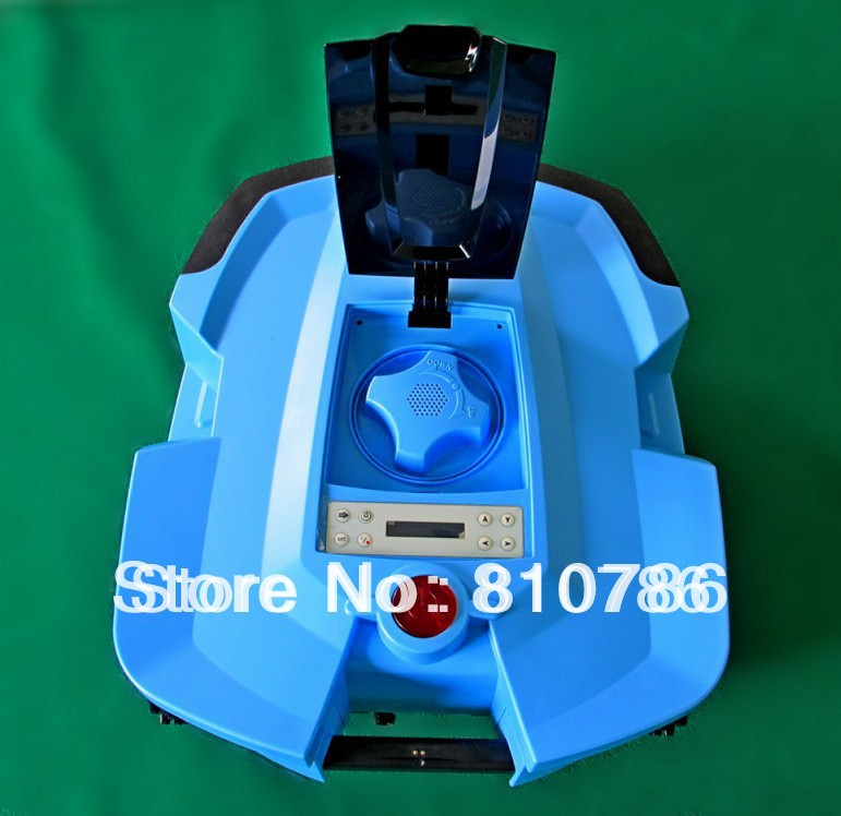 Free Shipping Two Independent Lithium Batteries Robot Lawn Mower With Four Blades + Time Setting(China (Mainland))