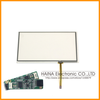 164.9*103.8mm 7 inch Right Connector includes USB Controller 4 Wire Resistive Touch Screen Panel Digitizer For GPS Car Pocket TV