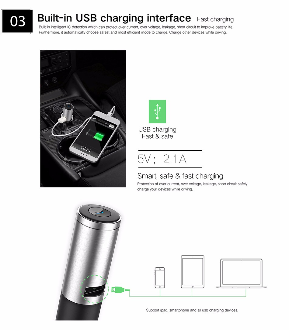 OVEVO Q8 CAR CHARGER HEADSET 201932 21