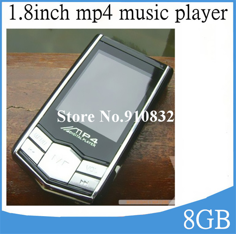 1.8inch 8GB MP4 Player Music Digital FM Video Black Diamond MP3 Music player with E-book Games Photo , Free shipping 100pcs/lot(China (Mainland))