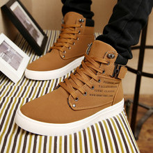 Hot Men Shoes Sapatos Tenis Masculino Male Fashion Autumn Winter Leather Fur Boots For Man Casual High Top Canvas Men Shoes