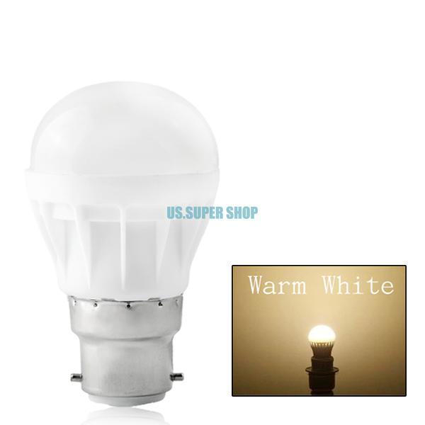 High Effect Energy Saving B22 LED Bulb Light Lamp 5W Warm White AC 220V EB5849(China (Mainland))