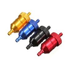 Aluminum Inline Fuel Gas Petrol Filter 1/4 6mm For Honda Motorcycle Bike Quad(China (Mainland))