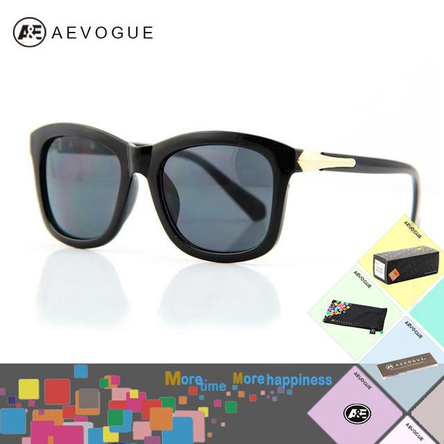 Aevogue с чехол металлические украшения очки бренд лен коробка очки солнечные очки женщины винтажный AE0105