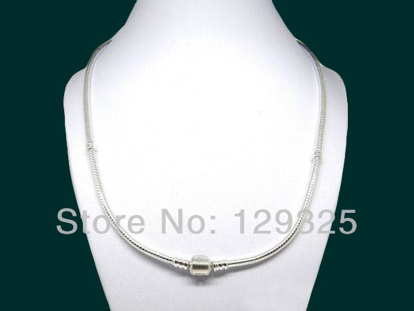PN003 Free Shipping beautiful The screw thread Snake Chain necklace high quality fit fashion jewelry Mix