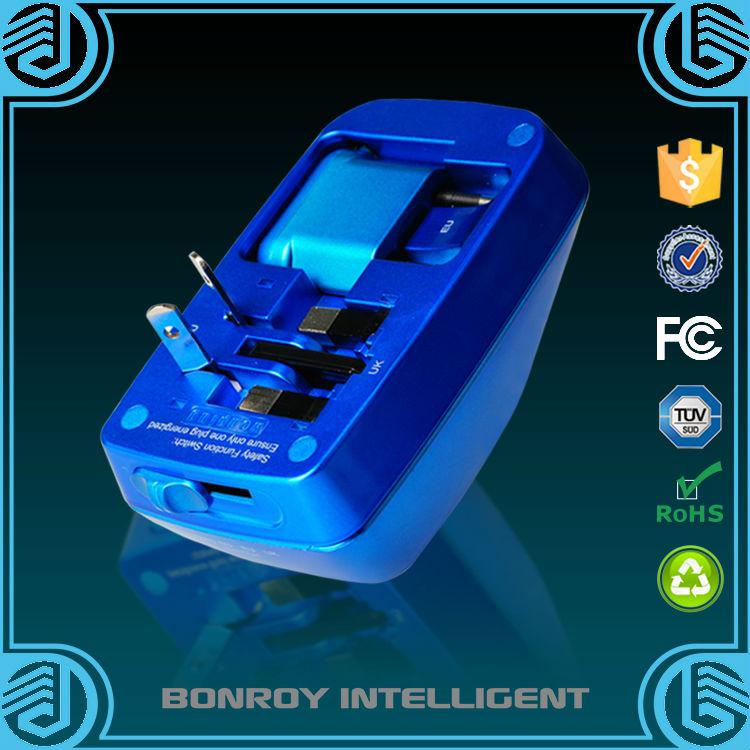 New Design All-in-one USB Universal Travel Adaptor included Australia/China/UK/USA/Europe(China (Mainland))