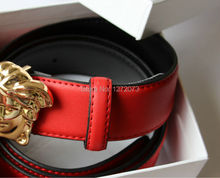 Epacket envoi gratuit Hot vente neuf de haute qualité en cuir véritable V - ceinture homme habitant style ceinture avec la boîte(China (Mainland))