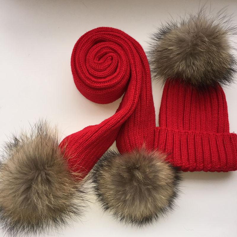 children knitted scarf and hat set luxury winter warm