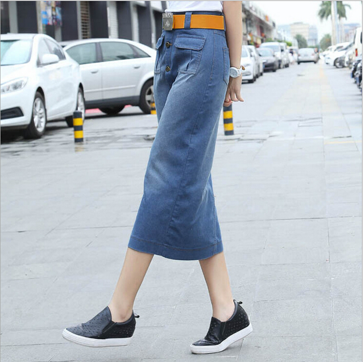 Denim Straight Skirt - Dress Ala