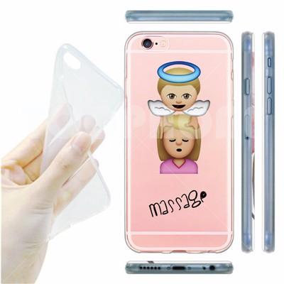 Ultra Thin Soft Emoji Phone Case for iPhone 6 7 6S 6Plus 5S SE Latest Design Funny icon Emoji Clear Transparent Cover Funda Capa