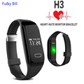 The new stylish H3 heart rate monitoring smart Bracelet sleep monitoring phone messages to show Bluetooth