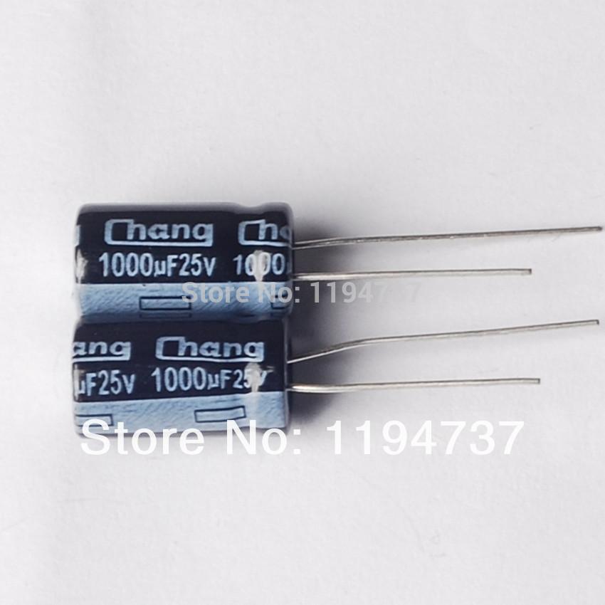 Free SHIPPING 100 PCS 1000UF 25V Electrolytic Capacitor 10 X 16mm(China (Mainland))