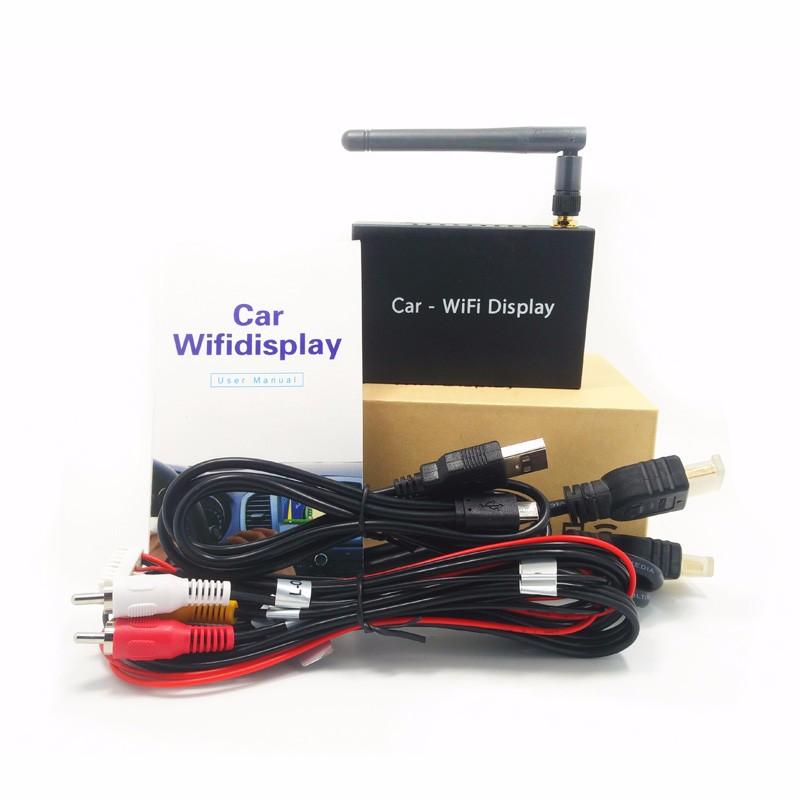 ถูก สำหรับIOS10รถWiFiแสดงWIFIกล่องกระจกกระจกลิงค์สำหรับรถยนต์และบ้านวิดีโอเสียงMiracast DLNAออกอากาศหน้าจอมิร์เรอร์