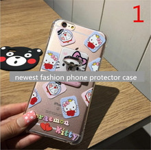 6 6S 4.7″ Plus 5.5″ carton Pattern Ring Stand Holder Case For iPhone6 Back Soft Slim TPU case