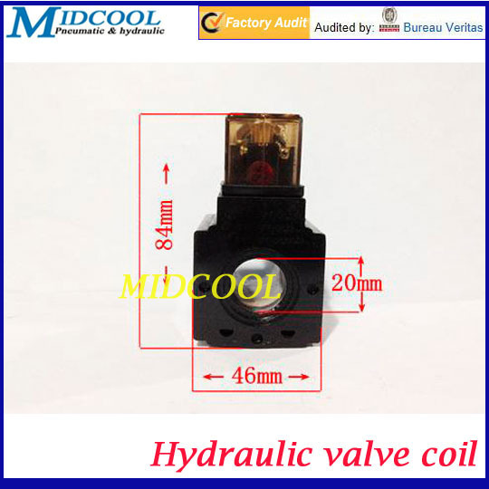 Hydraulic solenoid valve coil Inside diameter 20mm High 53mm DC24V(China (Mainland))