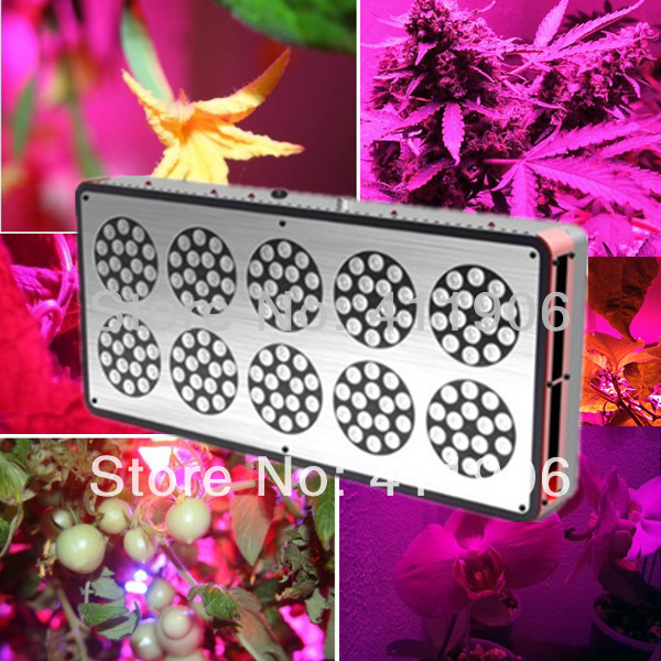 High Power 360W Apollo 10 Led Grow Light Lens Version for Indoor Grow Plant Veg and Flowering 1000W HID Lighting Replacement(China (Mainland))