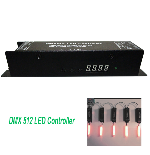 3 channels DMX512 DC12-24V decoder driver DMX controller for RGB LED Strip Light adopts advanced computer control chip(China (Mainland))