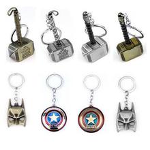 HOT! The Avengers Marvel Character Captain America Shield Hulk Batman Mask KeyChain Keyrings Key Chain Drop Shipping Wholesale(China (Mainland))