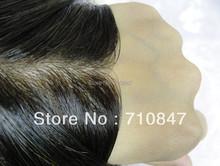 Customized  made  natural invisible knot  good human hair men/ wig  toupee free shipping(China (Mainland))