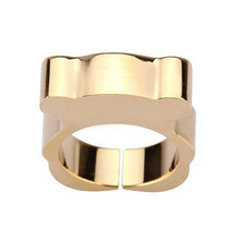High Quality Titanium Steel Bear Ring For Women Fashion 18K Gold Silver Plated Fine Jewelry anillo