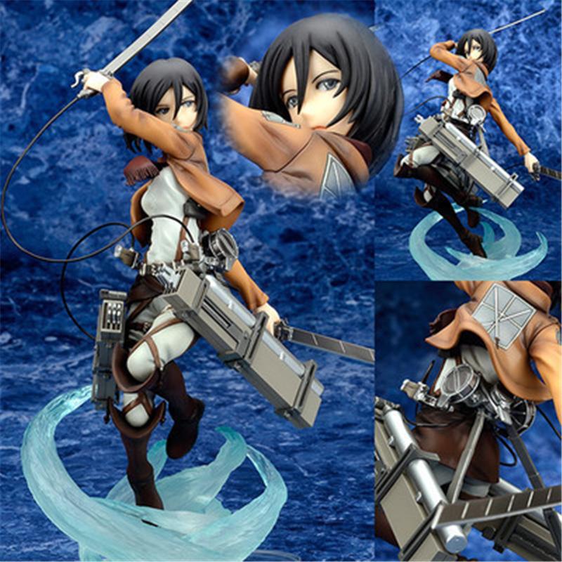 [PCMOS] Anime Attack on Titan Mikasa Ackerman 1/8 Scale Painted PVC Figure No Box 5785-L(China (Mainland))