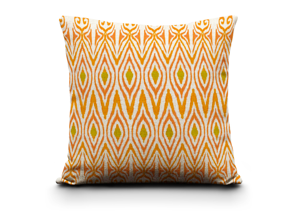Wholesale Orange Comfortable Decorative Pillows Watercolor