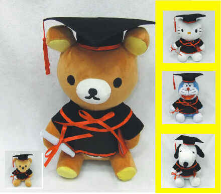 Special offer promotion products Graduation souvenir Hello Kitty cartoon KT Dr Easily bear plush toys(China (Mainland))