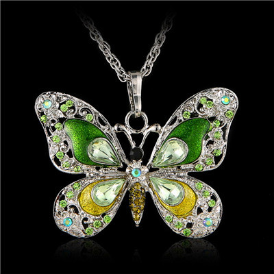 2015 New Women Long Vintage Necklace Butterfly Necklace Pendant Animal Zinc Alloy Jewelry 6 Colors Free Shipping<br><br>Aliexpress