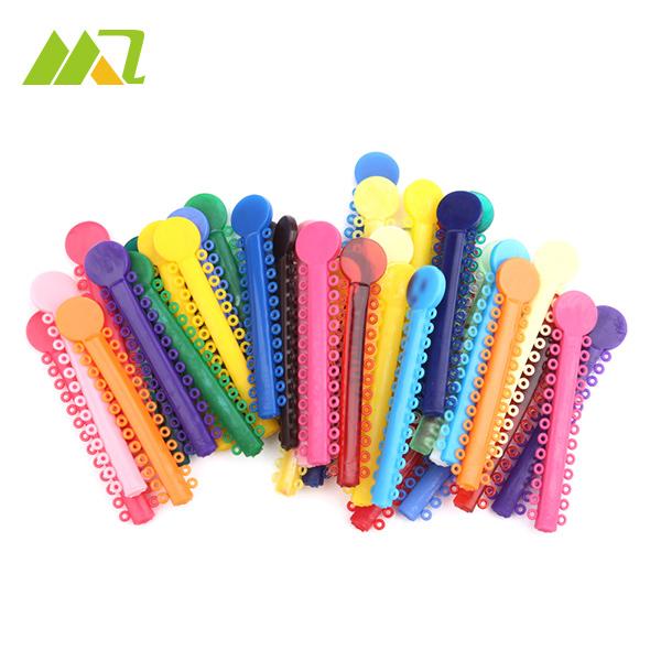 42 Piece / Bag Dental Orthodontic Ligature Ties Colorful Rubber Band Elastic ( 1 Ligature Sticks = 24 Ligature Ring )(China (Mainland))