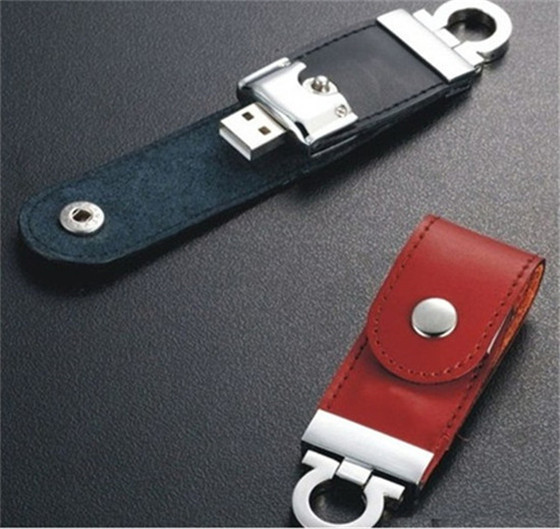 Hot selling leather business gift USB 2.0 flash memory stick pen drive 2G 4G 8GB 16GB 32GB Real capacity S113(China (Mainland))