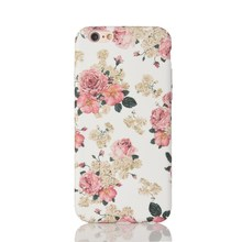 Mobile Phone Flower Case for iPhone 6 s Cover Case with Flower Design Matte Surface Luminous Effect