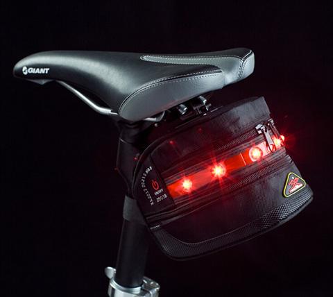 7LED Flashing Waterproof Bicycle Taillight Rear Bag Warning Light Bike Saddle Pouch Seat - lisa topseller's store