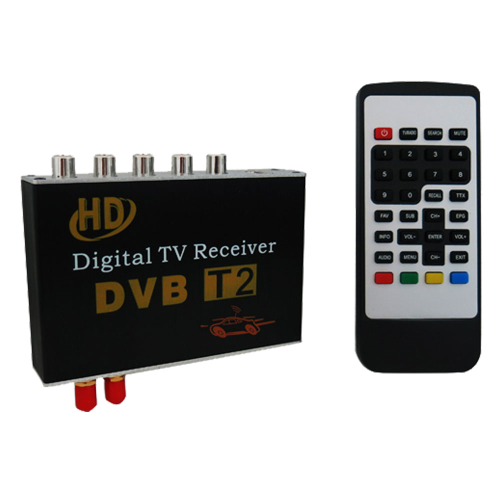 Car DVB-T2 Double Antenna H.264 MPEG4 Mobile Digital TV Box Receiver Dual Tuner DVB-T2 Double Antenna HD Car Digital TV BOX(China (Mainland))
