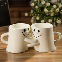 creative coffee cup winter drinking tool men&women 280ml mug cup valentine's day lovers girlfriend kitchen tea set mugs from jyo