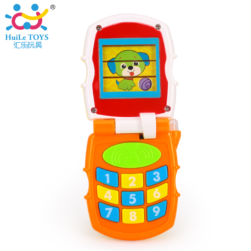 Baby Children Kids Electronic Mobile Phone with Sound Smart Phone Toy Cellphone Early Education Toy Infant Toys HUILE TOYS 766(China (Mainland))