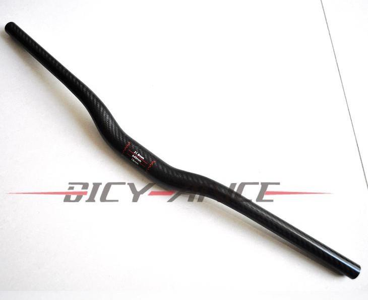 New Mountain bike 3K full carbon handlebar rise/ swallow shaped carbon bicycle handlebar MTB bike parts 31.8*620-740mm Free ship(China (Mainland))