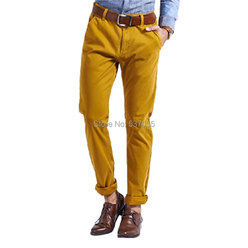 Lesmart Men's Business Casual Fashion Pure Cotton Solid Slim Fit Easy-care Straight Pants Full Length Leisure Zipper Trousers - Qingdao Textile Co., ltd store
