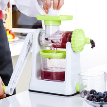 Free Shipping Hot Sales Kitchen Cooking Tools Accessories MIni Household Hand Low speed Fruit Squeezers Reamers for baby juicer