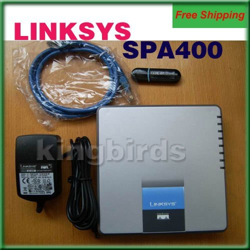 Free Shipping Voip Gateway Unlocked LINKSYS SPA400 4 FXO gateway Phone Adapter Internet Telephony