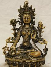 JP S0524 9 Tibet Tibetan Buddhism Bronze White Tara spirit Compassion Goddess Statue B0403 - Online Store 815213 store