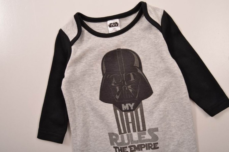 fashion black darth vader STAR WARS Cotton long Sleeve Clothing Similar Jumpsuit Printed Bodysuits baby boy girl clothes